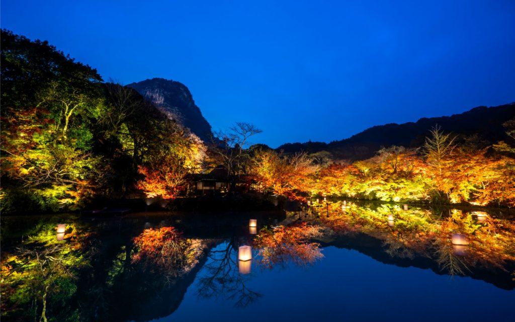 Spots to see autumn leaves in Kyushu Mifuneyama Rakuen autumn leaves
