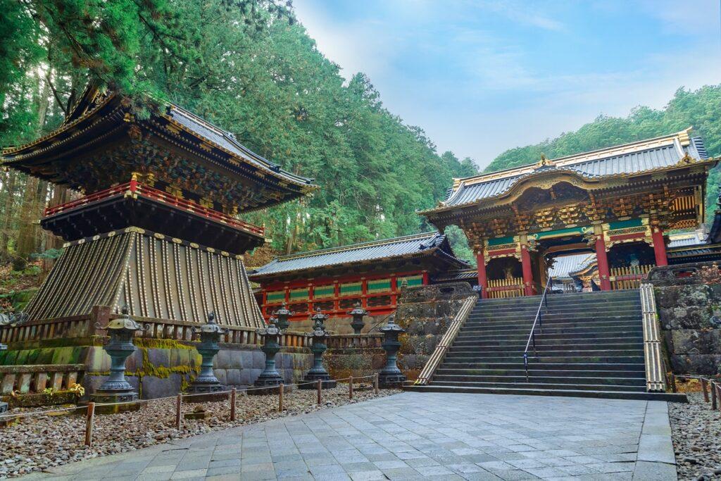 Yashamon gate in Taiyuin mausoleum of the Rinnoji temple