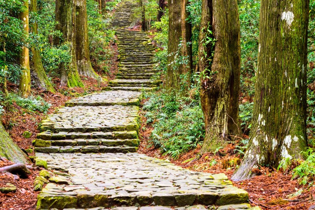 Kumano kodo Nakahechi Route in Wakayama Japan