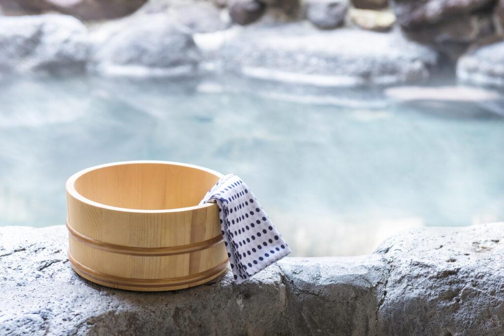 Japanese hot spring, open-air bath Miyagi