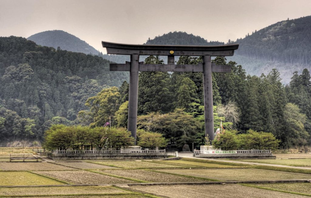 Oyu no Hara Torii Gate on the Kumano Kodo trail
