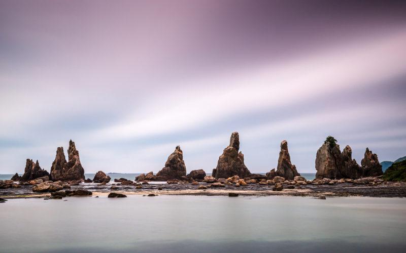 Hashikui-iwa Rocks Kumano Kodo Ohechi Coastal Route in Wakayama Japan