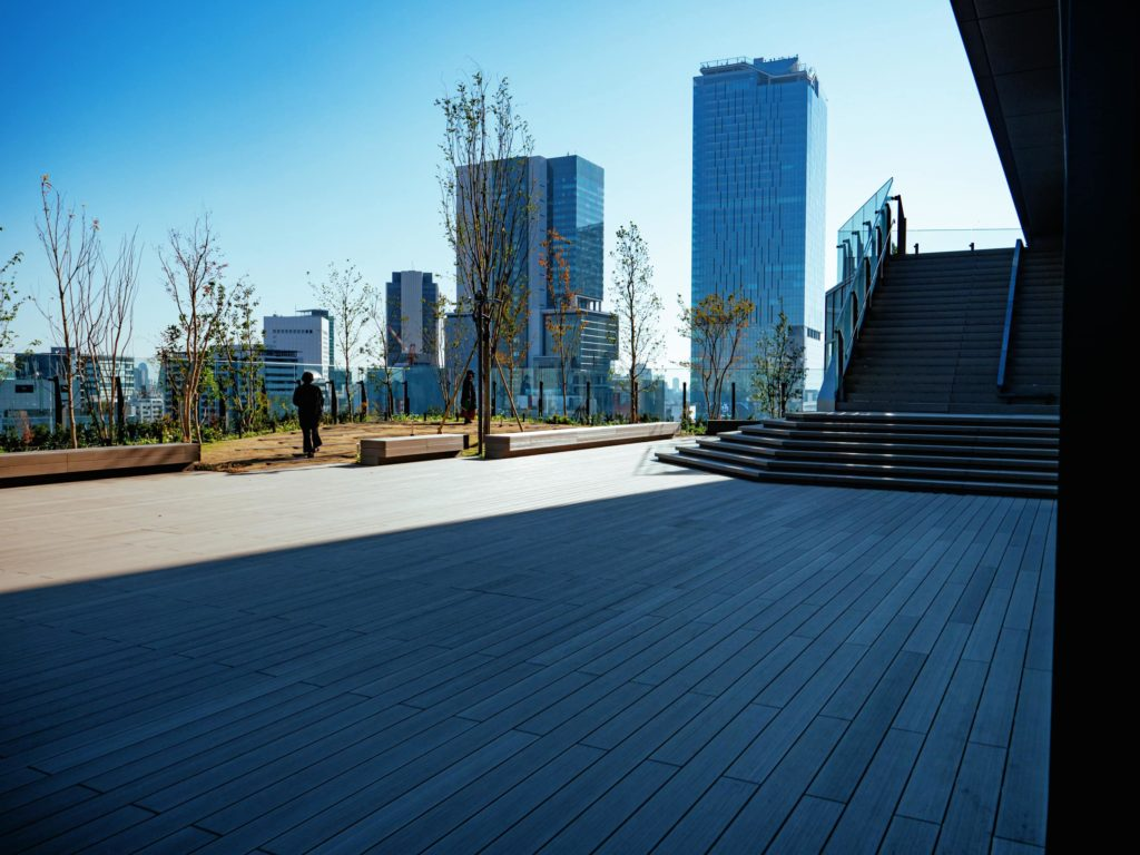 The rooftop terrace of Shibuya Parco in Tokyo Japan