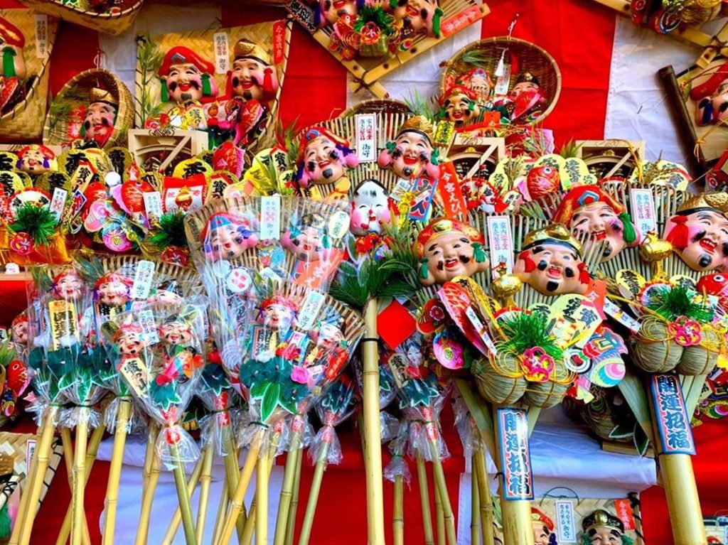 Toka Ebisu Festival at Imamiya Ebisu Shrine in Osaka Japan