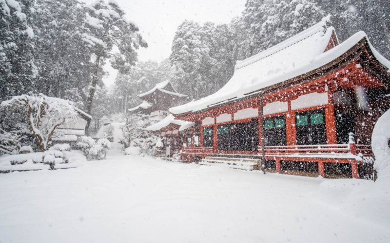 Chomei-ji Temple in Shiga, Japan.