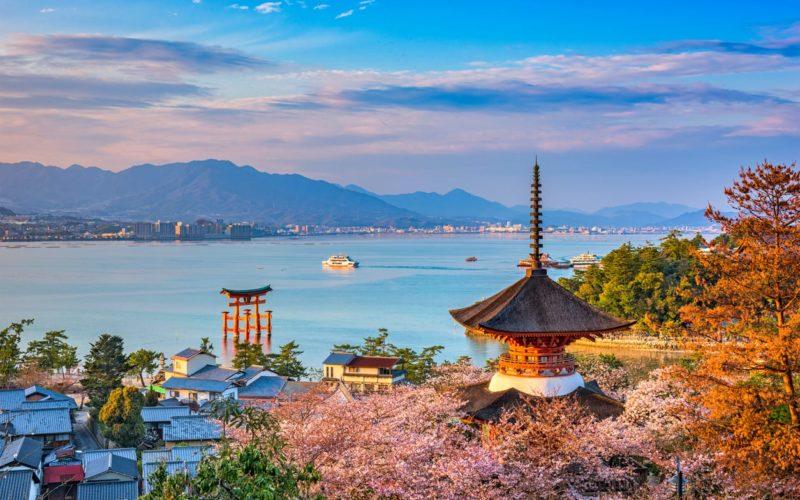 Miyajima in Hiroshima, Japan.