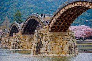 Kintaikyo Bridge in Yamaguchi, Japan.