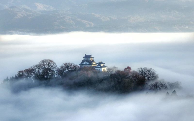 Echizen Ono Castle in Fukui, Japan.