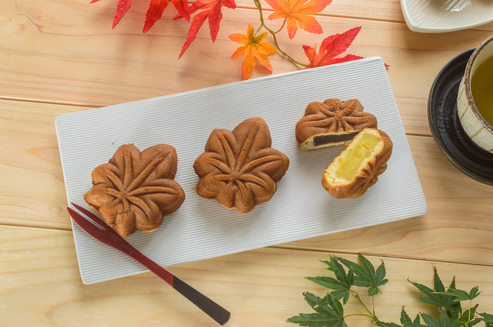 Momiji Manju from Miyajima is a regional dish in Hiroshima Japan
