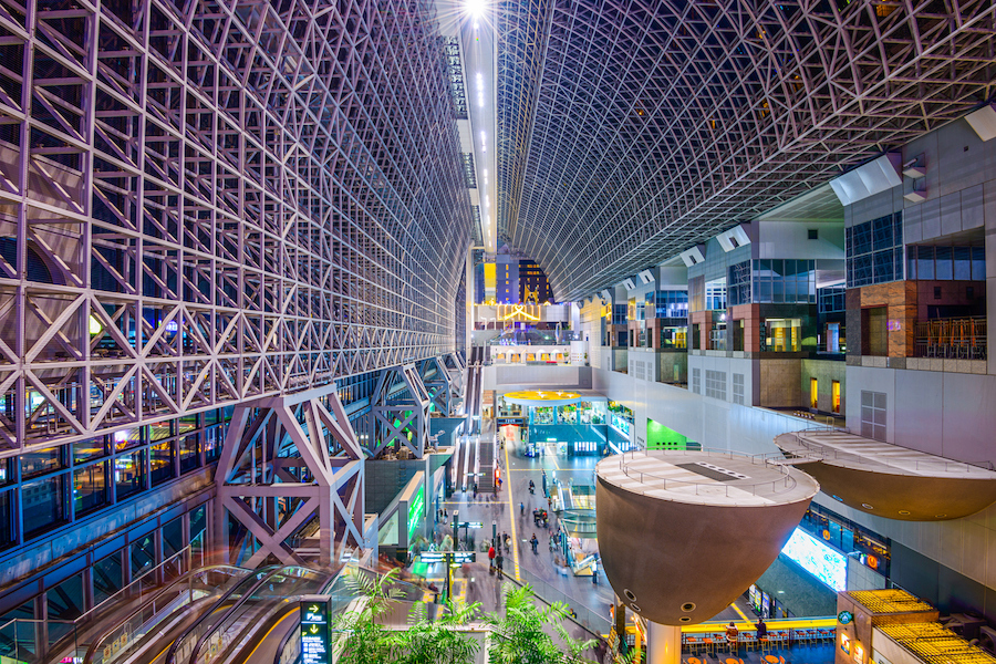Watch a live stream of Kyoto Station in Japan