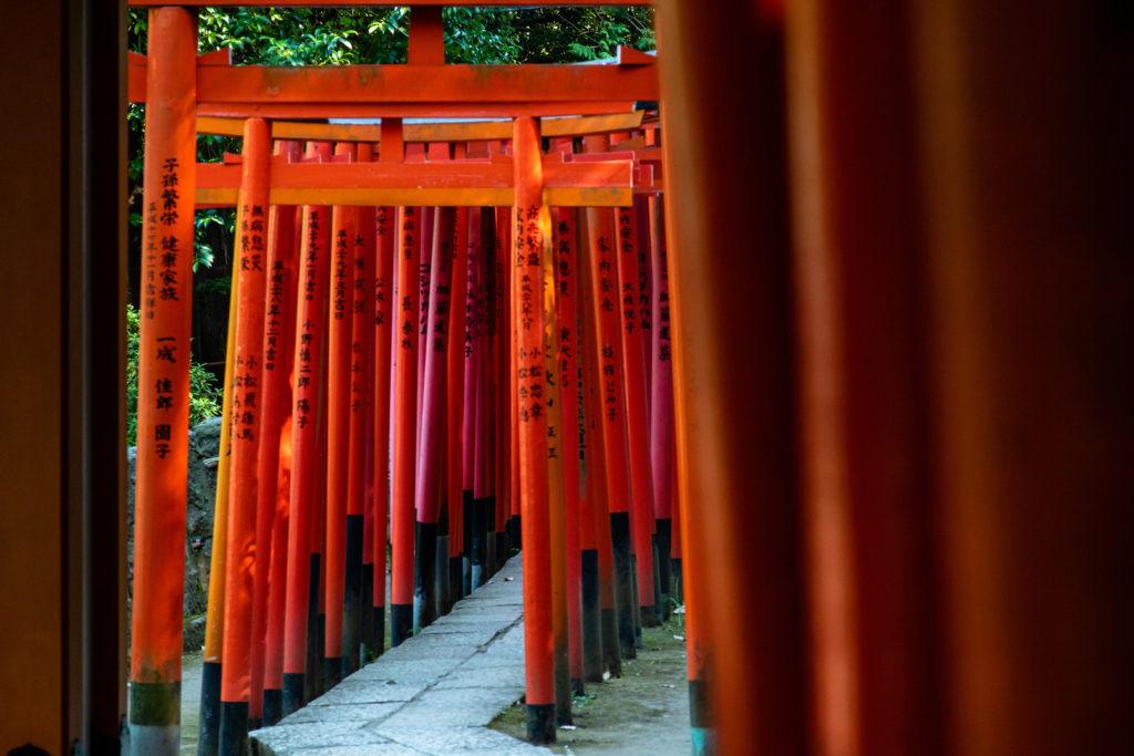 Nezu Shrine Detail in Bunkyo, Tokyo
