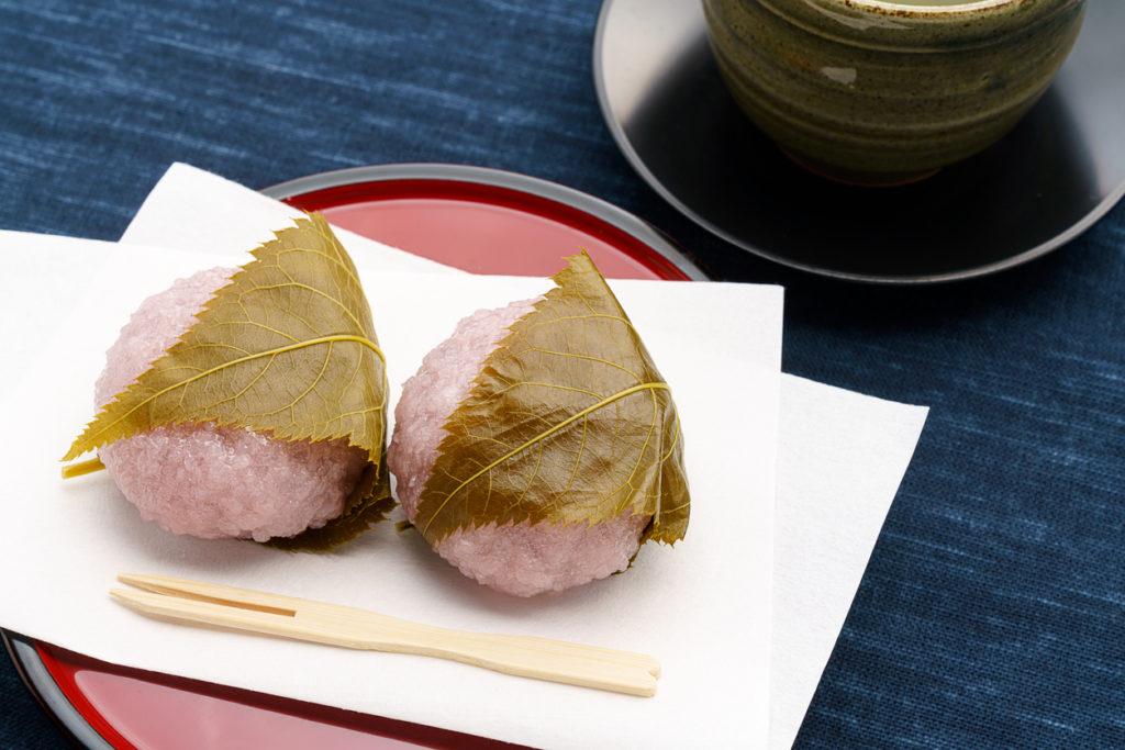 Japanese traditional sweet 'Sakura mochi'