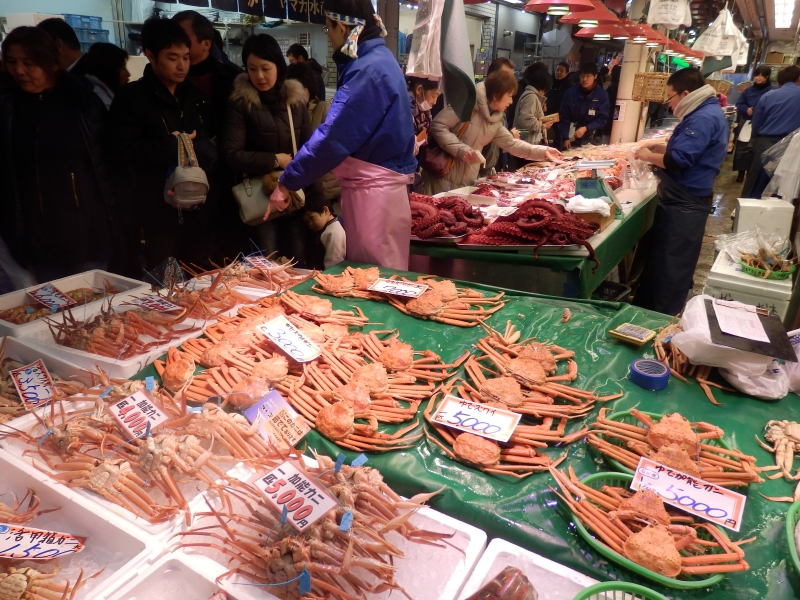 Omicho Market in Kanazawa Japan