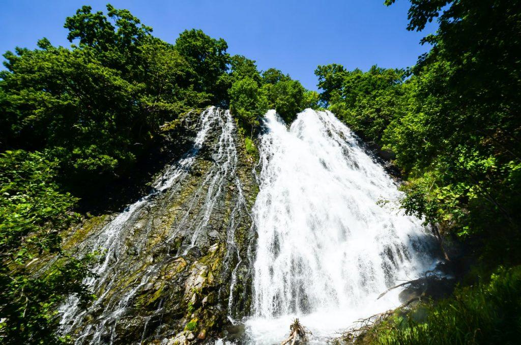 Oshinkoshin Falls in summer in Shiretoko Hokkaido