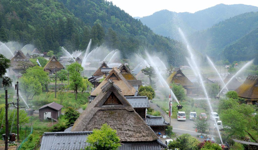 Kayabuki no Sato in Kyoto has farmhouses similar to Gokayama and Shirakawa-go.