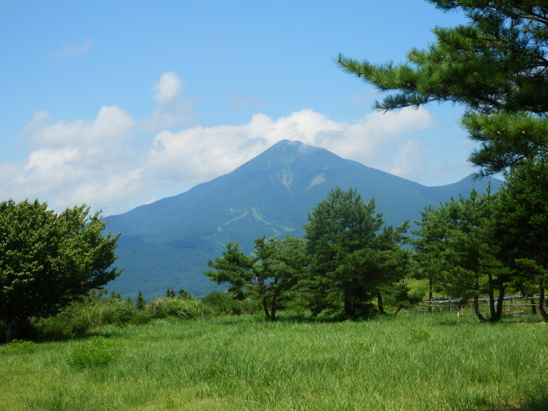 Mount Bandai as seen from nearby Lake Inawashiro