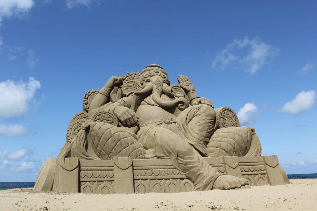Mitane Sand Craft Festival at Kamayahama Beach