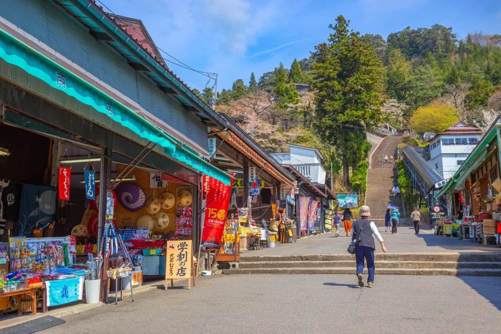 The path leading up Mount Iimori