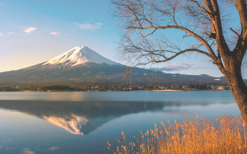 mont fuji, five lakes, japan