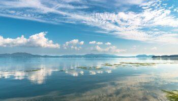 Scenery of Lake Shinji in Shimane